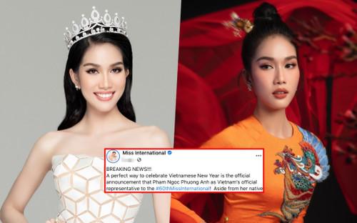 Chính thức: Phương Anh đại diện Việt Nam thi Hoa hậu Quốc tế 2020, fan khen ngợi 'Chuẩn gái Nhật đó'