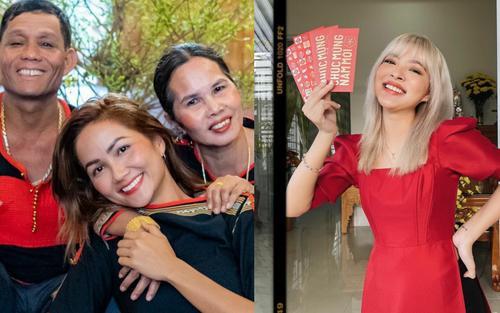 Sao Việt xúng xính mùng 1 Tết: H'Hen Niê diện đồ truyền thống, Tú Hảo, Bảo Anh nhẹ nhàng với áo dài