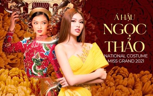 Á hậu Ngọc Thảo tiết lộ trang phục dân tộc dự thi Miss Grand International: Hoành tráng hơn cả Kiều Loan