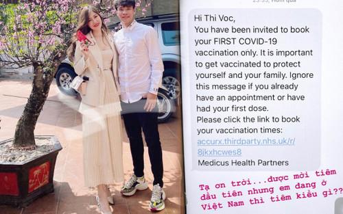 Vợ mới cưới của cầu thủ Văn Dũng bất ngờ nằm trong danh sách ưu tiên tiêm vaccine COVID-19