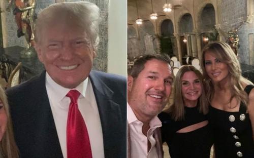 Vợ chồng ông Trump lần đầu tiên xuất hiện cùng nhau từ khi rời Nhà Trắng