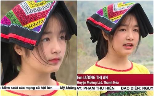Xuất hiện trên VTV chỉ vài giây, nữ sinh vùng cao xứ Thanh gây 'sốt' bởi nhan sắc trong trẻo