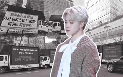 Đã 8 tuần từ khi fan gửi xe tải đòi công bằng cho Jimin (BTS): Big Hit vẫn chưa chịu giải quyết bức xúc?
