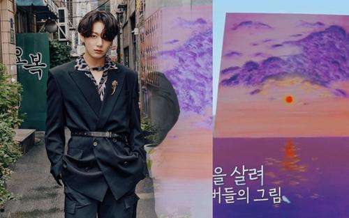 Jungkook (BTS) gây ấn tượng với khả năng hội họa