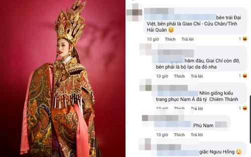 Trang phục Dương Vân Nga của Hoa hậu Khánh Vân bị fan chê tơi tả
