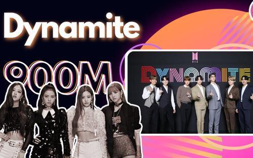 Dynamite của BTS thần tốc cán mốc 900 triệu view, 'hớt tay trên' kỉ lục từ BlackPink
