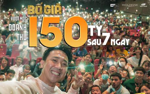 Trấn Thành khoe kiếm 150 tỷ sau 7 ngày, liệu Bố già sẽ là phim Việt đầu tiên đạt 300 tỷ?