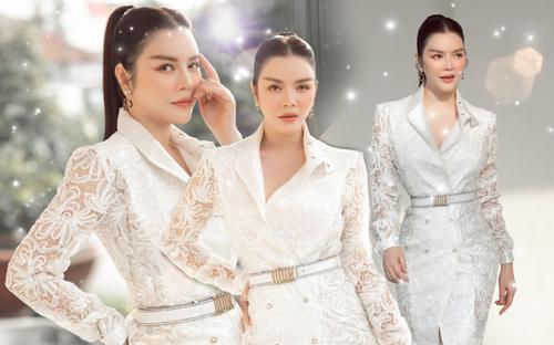 Lý Nhã Kỳ diện váy ren trắng giá ngàn đô, đẹp như nữ thần ánh sáng mê hoặc bao ánh nhìn