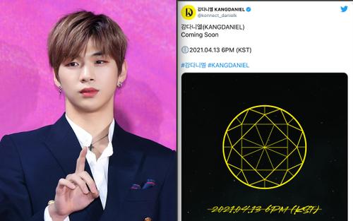 Kang Daniel tiết lộ teaser thiết kế Mandala, thông báo trở lại vào tháng 4