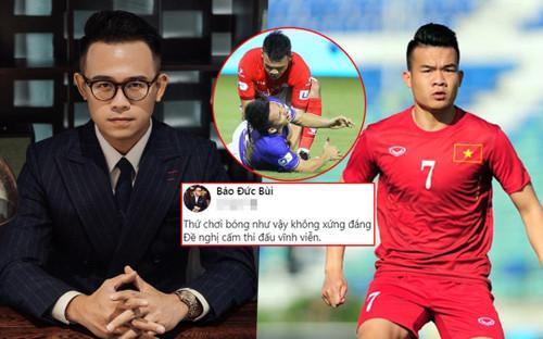 MC Đức Bảo bức xúc đề nghị cấm Hoàng Thịnh vĩnh viễn: 'Thứ chơi bóng như vậy không đáng làm cầu thủ'