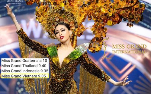 Dừng chân trước Top 10 Swimsuit, Ngọc Thảo được ê-kíp Miss Grand chấm điểm National Costume cao ngất