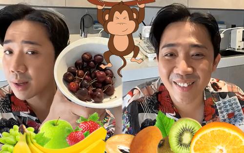Trấn Thành livestream khoe ăn sáng healthy như 'khỉ trong rừng' vào lúc 12 giờ trưa