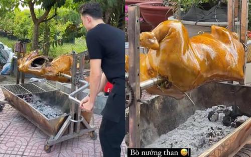 Về thăm nhà Yến Xuân, 'con rể' tương lai Văn Lâm chuyển nghề làm đầu bếp