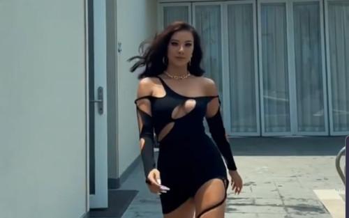 Kim Duyên diện váy cắt khoét cực hiểm, catwalk bốc lửa chuẩn Miss Universe