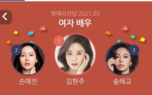 Top 20 nữ diễn viên Hàn hot tháng 3: Song Hye Kyo đối đầu Son Ye Jin!