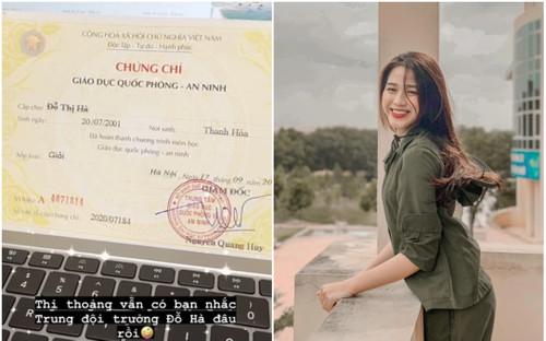 Hoàn thành khóa học Quốc phòng với loại giỏi, hoa hậu Đỗ Thị Hà còn gây bất ngờ với chức vụ quan trọng