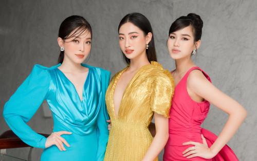 'Chiến binh Miss World' Đỗ Thị Hà rạng rỡ đọ sắc cùng đàn chị Phương Nga - Lương Thùy Linh