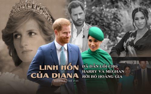 'Linh hồn của Diana đã dẫn lối cho Harry và Meghan rời bỏ Hoàng gia'