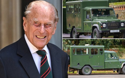 Hoàng thân Philip từng tự thiết kế xe tang để chở quan tài của mình
