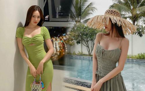 Ninh Dương Lan Ngọc diện đồ khoe thềm ngực nõn nà, bắt đúng trend với gam màu 'chanh sả'