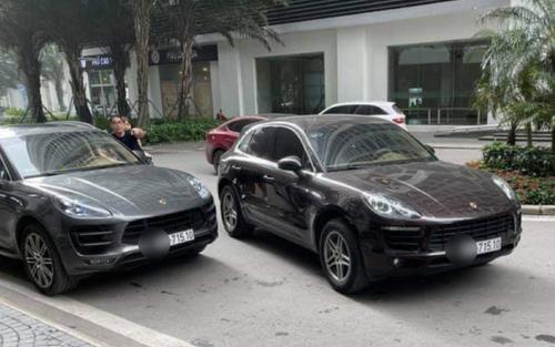 Vụ hai xe sang Porsche cùng biển số 'chạm mặt' ở chung cư Hà Nội: Công an truy tìm tài xế xe gắn biển giả
