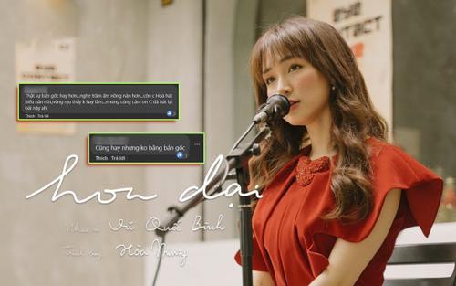 Hòa Minzy cover nhạc phim Việt đình đám một thời, dân mạng 'nửa khen nửa chê' không bằng bản gốc