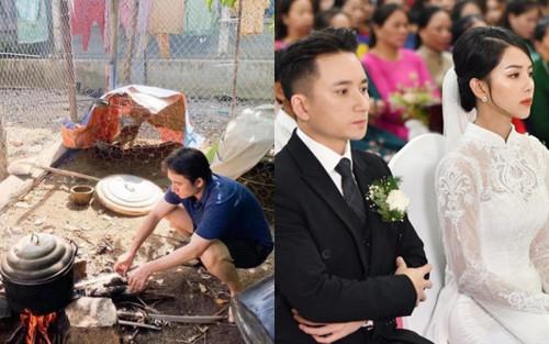 Lộ ảnh Phan Mạnh Quỳnh thổi lửa nấu cơm sau đám cưới, fan đồng loạt an ủi: Nhà nào mà chẳng có nóc