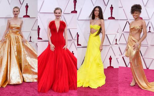Thảm đỏ Oscar 2021: Lóa mắt với những bộ cánh lộng lẫy của dàn sao Hollywood đình đám