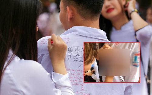 Nữ sinh viết lưu bút tại vị trí nhạy cảm của bạn học khiến dân tình ngán ngẩm