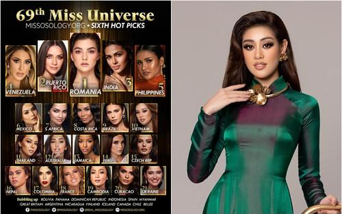 Sát giờ G - Missosology đưa Khánh Vân cán đích Top 10 và 'đẩy' Philippines lên á hậu 4 Miss Universe