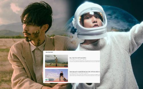 'Trốn tìm' từ Đen Vâu chính thức chấm dứt chuỗi ngày #1 trending YouTube của Sơn Tùng