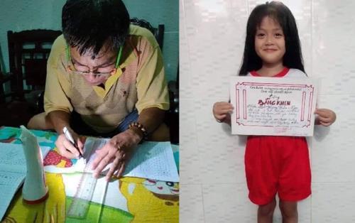 Thương cháu gái không có giấy khen, ông nội tự tay làm món quà đặc biệt: Tấm bằng giá trị nhất là đây!