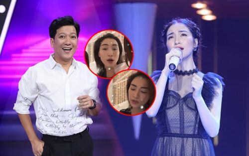Đang 'so deep' hát mừng sinh nhật Nhã Phương, Hòa Minzy giật mình vì lời nhắc nhở này của Trường Giang