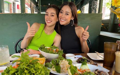 Khánh Vân tụ họp bạn cùng phòng ở Miss Universe 2020, ăn toàn món Việt trên đất Mỹ