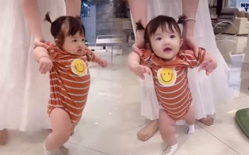 Đông Nhi khoe clip tập đi cho con gái, vẻ ngoài của bé Winnie khiến ai nhìn cũng yêu