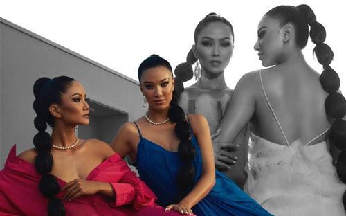 Miss Universe Vietnam 2021 Kim Duyên hóa chị em sinh đôi cùng H'Hen Niê: Thần thái ma mị, sắc vóc Hoàn vũ