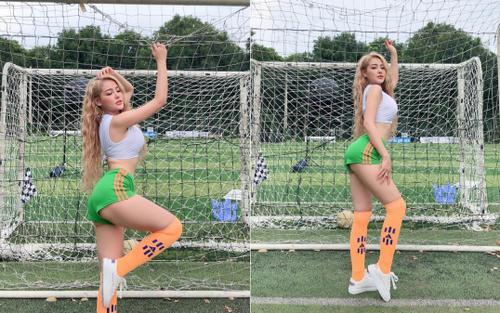 Ngân 98 hóa thân thành gái Brazil, cổ vũ tuyển Việt Nam trước giờ G