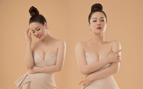 Nhật Kim Anh mặc váy cúp ngực khoe cặp 'bồng đảo' đầy nóng bỏng khiến dân tình 'xịt máu mũi'