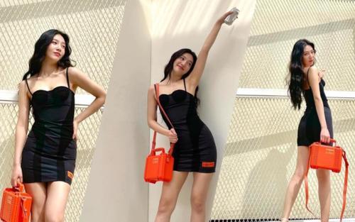 'Body siêu thực' của Joy Red Velvet trong váy hai dây ngắn cũn cỡn viral khắp mạng xã hội