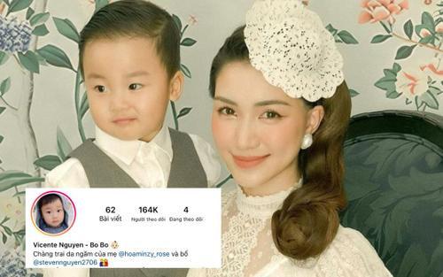 Bất ngờ chưa, quý tử nhà Hòa Minzy có lượng follow Instagram cao gấp mấy lần bố!