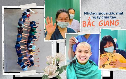 Xúc động những giọt nước mắt ngày chia tay của bác sĩ TP.HCM trước khi rời khỏi Bắc Giang