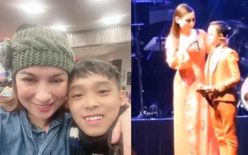 Hồ Văn Cường đi hát được khán giả cho tiền cầm không xuể, Phi Nhung nhắn nhủ: 'Xin đừng làm bé hư'