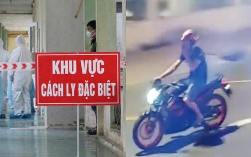 Clip: Vợ bị đưa đi cách li tập trung, người chồng chạy xe máy đuổi theo, vừa đi vừa quệt nước mắt