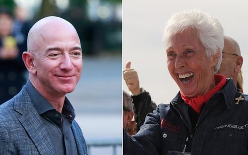 Jeff Bezos sẽ bay vào không gian cùng cụ bà 82 tuổi