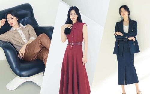 Bộ ảnh thời trang vừa ngầu vừa sang của Song Hye Kyo khiến các fan say mê