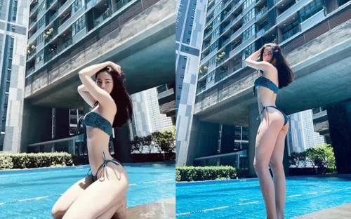 Bạn gái tin đồn của Quang Hải khoe vóc dáng 'nóng bỏng mắt' khiến dân tình xuýt xoa