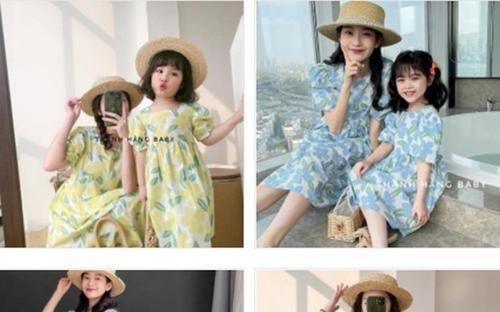 Thanh Hằng Baby: thế giới của những sắc màu đầm cotton hoạ tiết cho bé gái