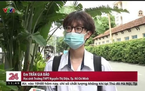 Xuất hiện vài giây trên sóng VTV24, nam sinh khiến hội chị em rần rần thích thú vì vẻ ngoài cực điển trai