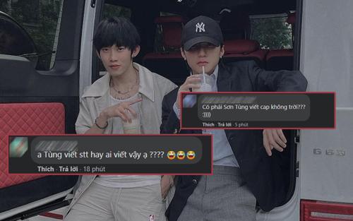 Khoe ảnh với Kay Trần nhưng Sơn Tùng đăng status kiểu gì khiến fan không tin nổi là anh viết thế này?