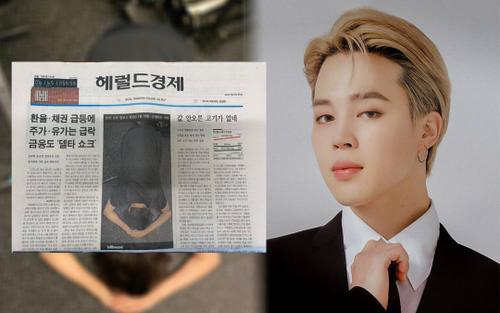 Đăng hình Jimin (BTS) ăn mừng no.1 Billboard lên trang nhất, tờ báo bỗng dưng 'cháy hàng'